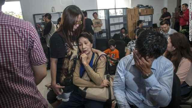 familiares del vuelo QZ8501 de AirAsia