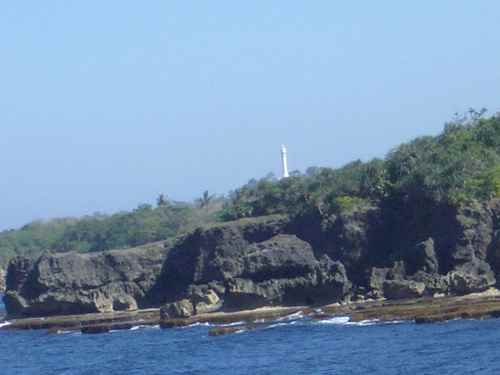 costa del Faro del Cabo Bolinao, Filipinas