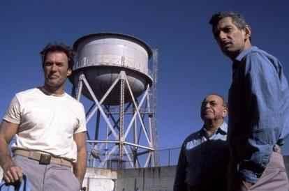 Clint Eastwood en la película Fuga de Alcatraz