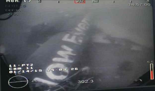 fuselaje del vuelo QZ-8501 de AirAsia
