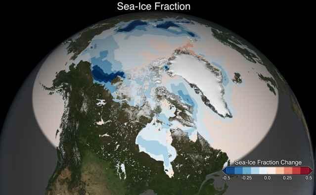 el fraccionamiento del hielo marino del Ártico