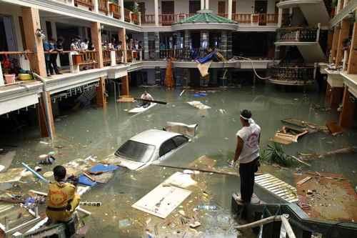 hotel inundado en Tailandia