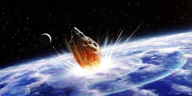 impacto de un asteroide sobre el océano