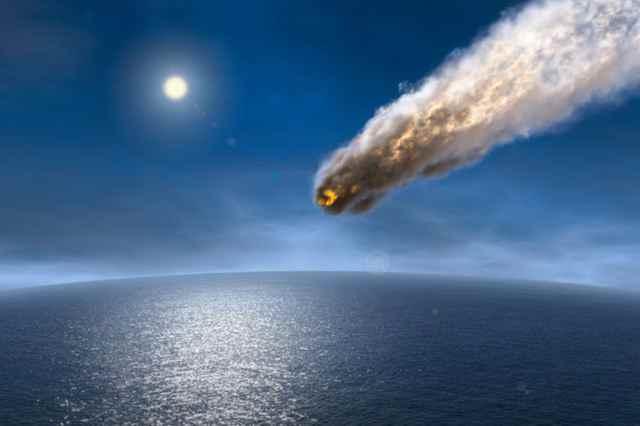 impacto de un asteroide en el océano