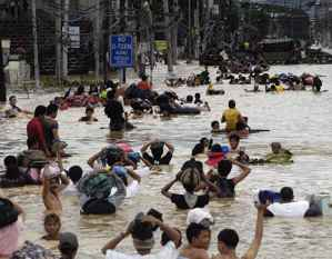 inundaciones en Metro Manila por el tifón Ondoy en 2009