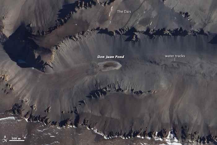 laguna de Don Juan desde satélite