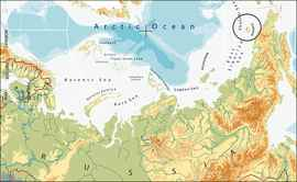 mapa del océano Ártico