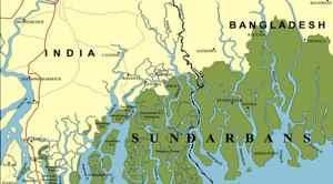 mapa de los Sundarbans