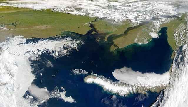 Mar de Kara desde satélite