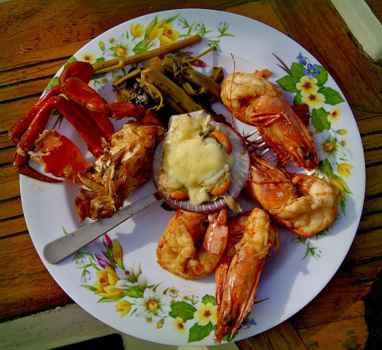 plato de mariscos en Filipinas