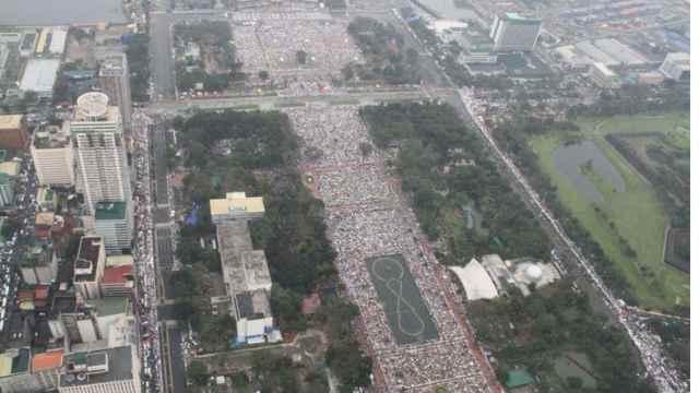 misa del Papa Francisco en el Parque Rizal, Manila