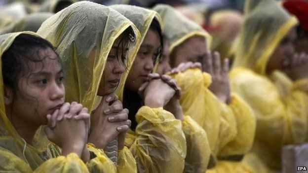 misa del Papa Francisco en Tacloban, Filipinas