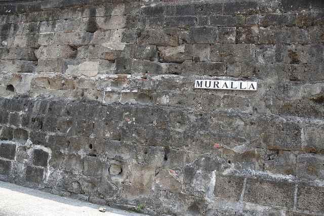 muralla en Intramuros, Manila - Filipinas