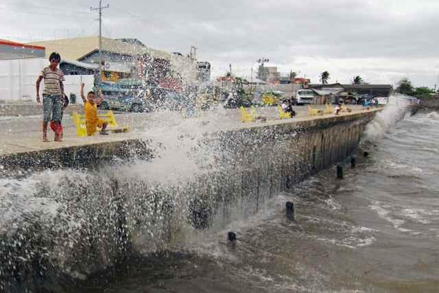 marea de tormenta por el tifón Ruby/Hagupit