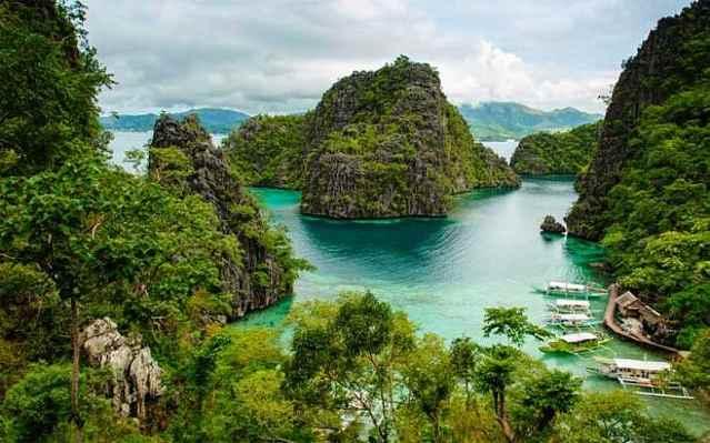 un paisaje de Palawan