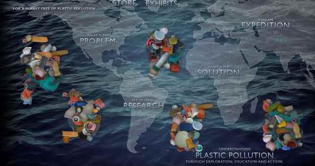 plástico en los 5 giros oceánicos