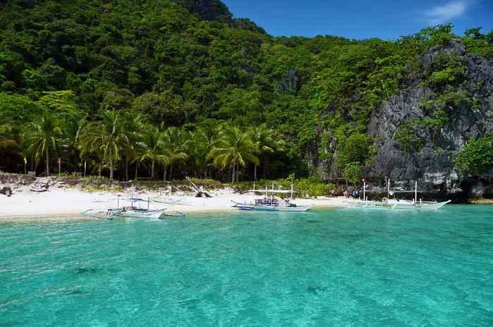 una playa de Filipinas