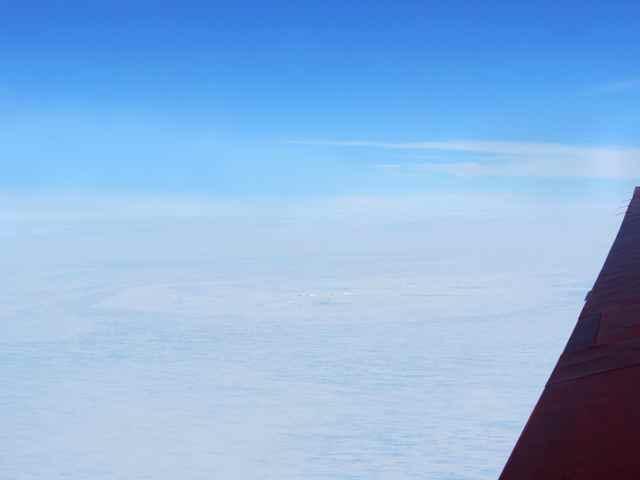 posible cráter de un meteorito en el hielo de la Antártida