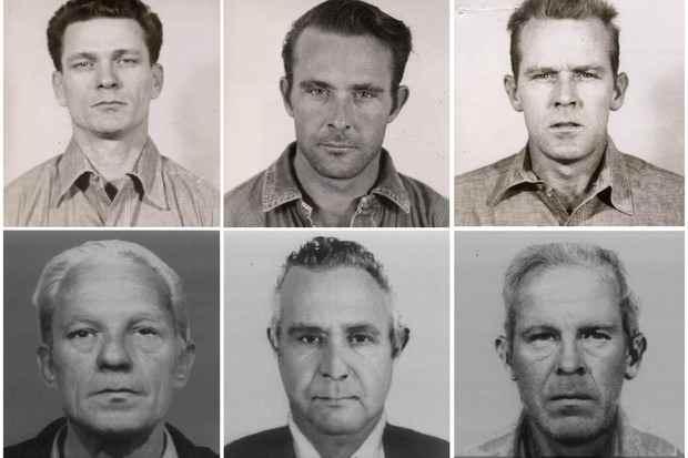 apariencia de los presos fugados de Alcatraz
