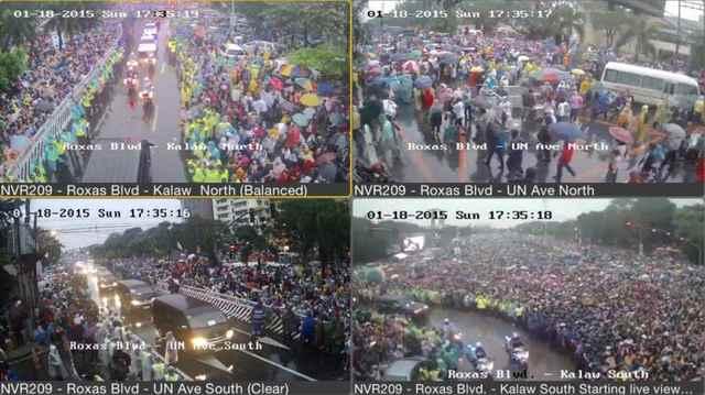 público durante la misa del Papa Francisco en el Parque Rizal, Manila