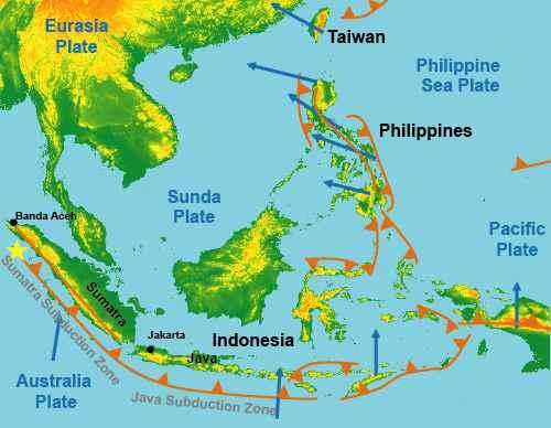 tectónica de sudeste de Ásia