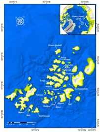 mapa de la Tierra de Francisco José