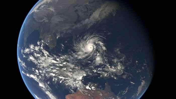 tifón Ruby/Hagupit desde el satélite Eumesat