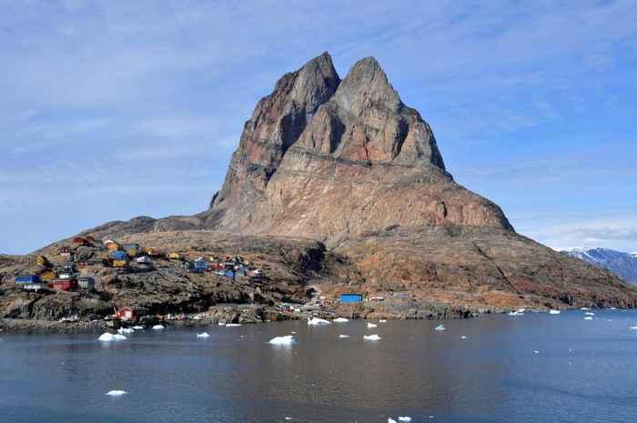 pico de la Isla de Uummannaq, Groenlandia