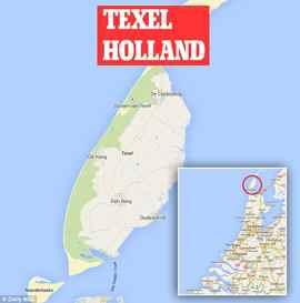 zona de investigación de varamientos de marsopas en Holanda
