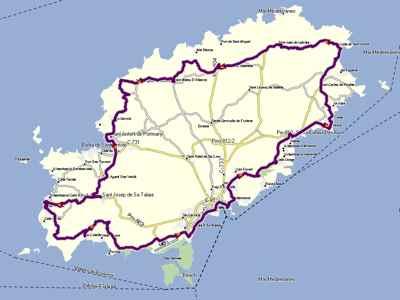 mapa de carreteras Ibiza