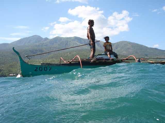 pescadores bajau en Mindanao, Filipinas