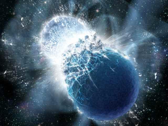 choque de dos estrellas de neutrones