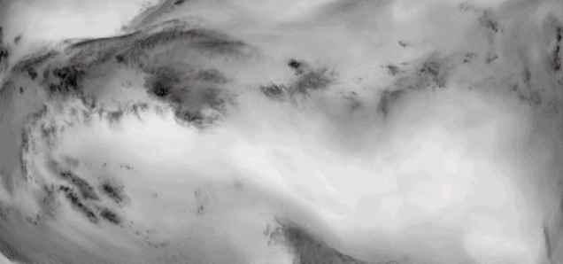 Planeta Tierra en infrarrojo (pinchar para animación)