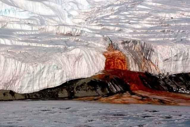Cataratas de Sangre de la Antártida