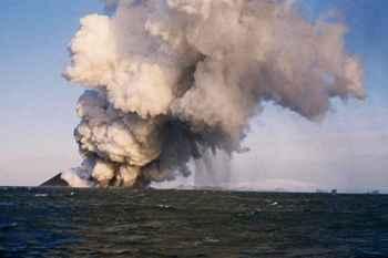 erupción de la isla de Surtsey