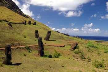 moáis de la Isla de Pascua
