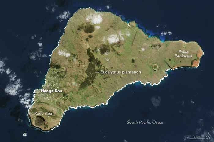 Isla de Pascua desde satélite
