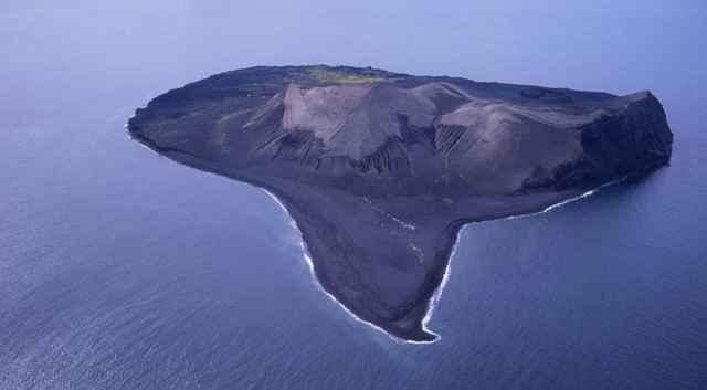 vista aérea de la isla de Surtsey
