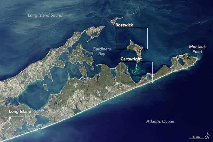 Long Island desde satélite