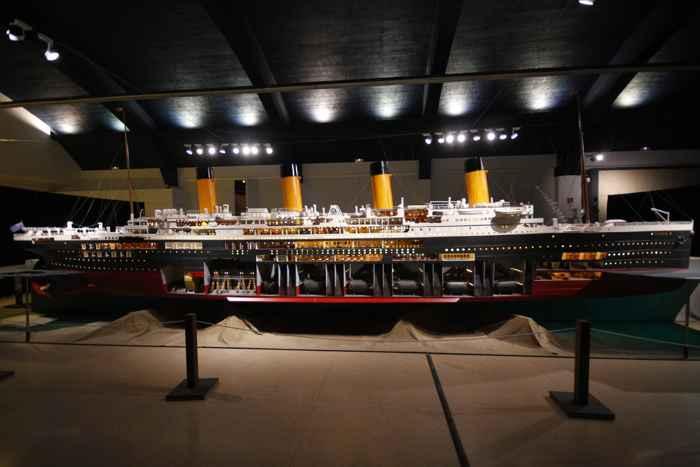 maqueta del Titanic en el Museu Maritím de Barcelona