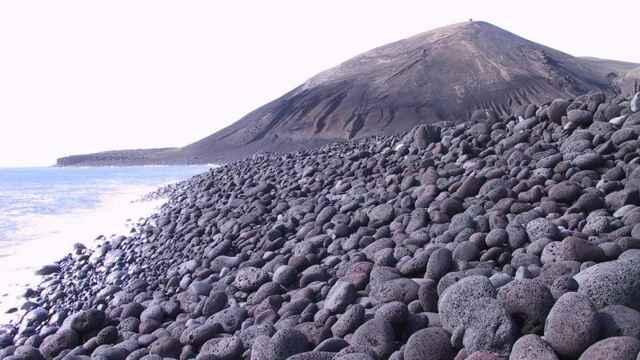 tefra en la isla de Surtsey