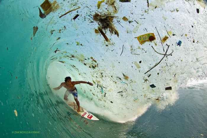 ola mueve plásticos