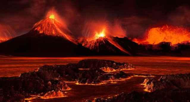 erupciones volcánicas durante el Pérmico
