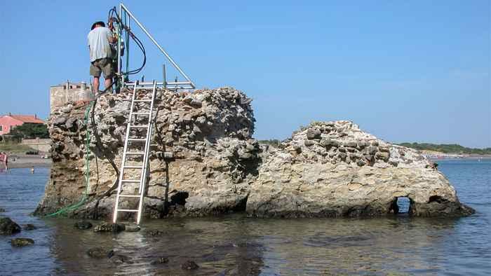 hormigón romano y su resistencia por el agua de mar