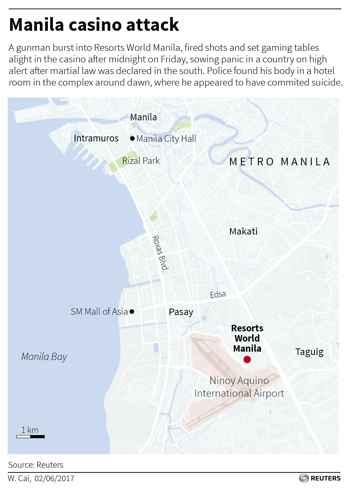 situación del casino Resorts World Manila