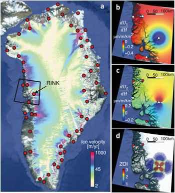 ola de deshielo en el glaciar Rink de Groenlandia