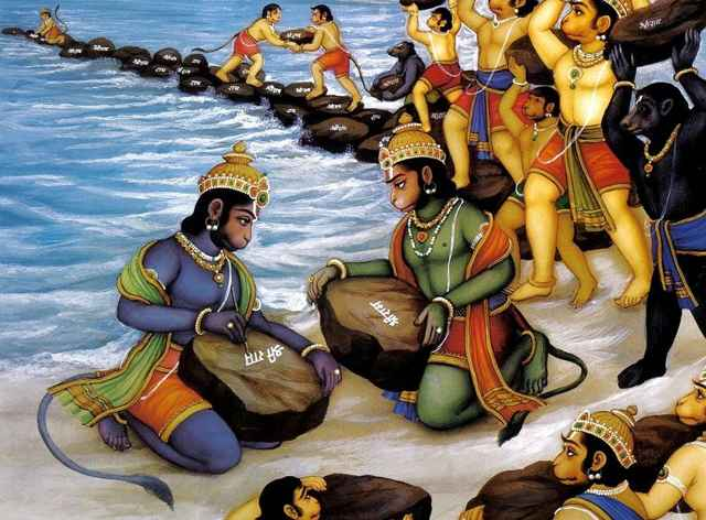 Construcción del Puente de Rama por monos