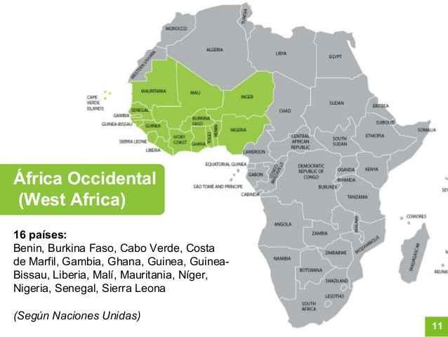 Mapa Africa Occidental