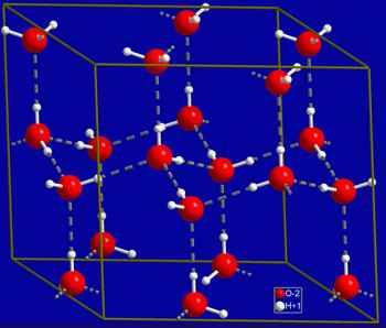 estructura de las moléculas agua