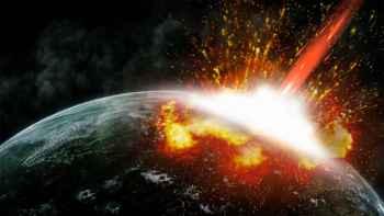 impacto de un asteroide gigante contra la Tierra